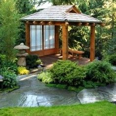 small japanese garden pergola - Google Search