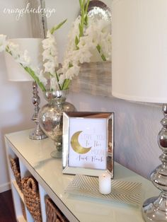 Mirrored and Mercury Glass! Two of my favorite things to accessorize with! They offer lovely shimmer and shine to brighten any space.  Available at HomeGoods, Sponsored Pin.