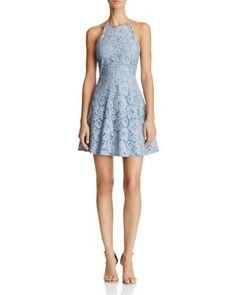 AQUA Lace High Neck Dress - 100% Exclusive | Bloomingdale's
