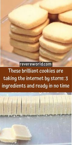 These brilliant cookies are taking the internet by storm: 3 ingredients and ready in no time – Creative recipes 3 Ingredient Sugar Cookie Recipe, Easy Biscuit Recipe 3 Ingredients, Sugar Cookie Recipe Easy, Easy Cookie Recipes, Baking Recipes, Dessert Recipes, Tart Recipes, Yummy Cookies, Cupcake Cookies