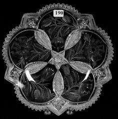 "Tuthill, Wild Rose, American brilliant cut glass, 10"", 15-5."