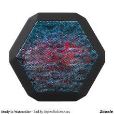 Study In Watercolor - Red Black Bluetooth Speaker
