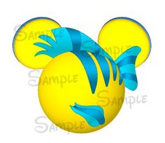 Platija inspirado digital archivo imprimible Mickey Head DIY