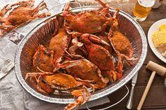 Blue Crab Recipes, Seafood Recipes, New Recipes, Cooking Recipes, Favorite Recipes, Seafood Dishes, Fish Recipes, Blue Crab Boil Recipe, Lobster Recipes