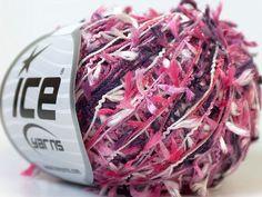 ice yarns grass pink purple white novelty yarn by turkishmarket, 4.50