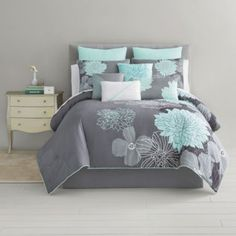 Home Expressions™ Alice Modern Floral 10-pc. Comforter Set & Accessories  found at @JCPenney