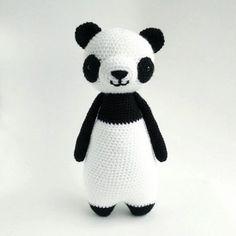 Tall Panda amigurumi pattern by Little Bear Crochet