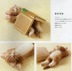 Naald voelde schattige katten PDF patronen Kawaii door Crafterica