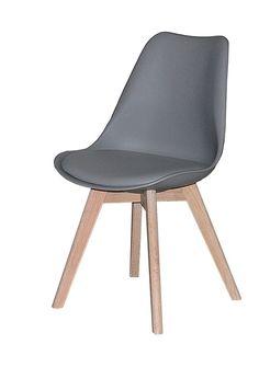 Jerry spisestuestol - Smuk og veldesignet skalstol til spisestuen med flot gråt sæde og stel i hvidolieret eg. Stolen har naturlige og bløde runde former, som er yderst behagelige at sidde i og kan med fordel kombineres med en af de øvrige smukke farver, for et mere personligt udtryk. Sælges i sæt á 2 stk.