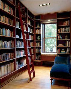 New-york-bookshelf-built-in-bookshelves-custom-made-library-rolling-library-ladder-wood-floors.jpg (798×996)