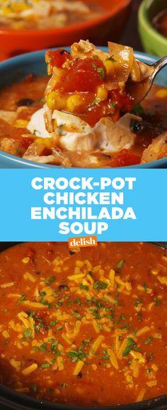 Crock-Pot Chicken Enchilada Soup