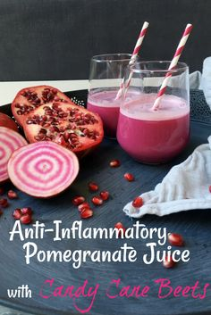 Anti-Inflammatory Pomegranate Juice with Candy Cane Beets. Pin Me!