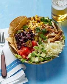 Chicken Taco Salad | Martha Stewart Living - Skip the fast-casual Tex-Mex and treat yourself to this zesty salad instead. It packs a serious punch thanks to all of its flavorful components.