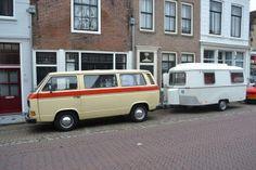 VW van + revitalised trailer. Too cool!