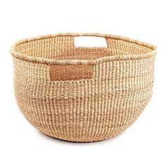 Wide Mouth Basket with Handles/toys Wood Basket, Wicker Baskets, Handmade Table, Little Bag, Ceramic Mugs, Storage Baskets, Basket Weaving, Straw Bag, Home Furniture