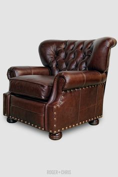 Brown Leather Armchair, Leather Recliner, Leather Sofa, Leather Chairs, Leather Living Room Furniture, Furniture Decor, Tight Back Sofa, Living Room Chairs, Living Area