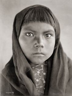 Qahatika Indian child, photographed by Edward Curtis in 1907.