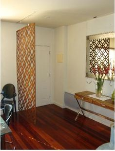 Mid century room divider for the entry way