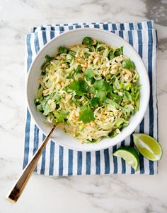 cucumber noodles in peanut sauce via a house in the hills