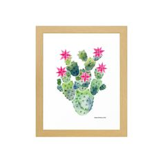 Capture the exquisite beauty of the flowering cactus in bloom. This vibrant print is striking against a matte white 100% cotton rag canvas. Framed in custom wood, this artwork comes in three distinct s...  Find the Blooming Cactus Framed Art Print, as seen in the Vibrant Adobe Style Collection at http://dotandbo.com/collections/vibrant-adobe-style?utm_source=pinterest&utm_medium=organic&db_sku=118397