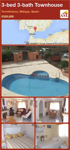 3-bed 3-bath Townhouse in Torreblanca, Málaga, Spain ►€320,000 #PropertyForSaleInSpain