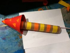 Rocket from a Paper Towel Roll – Kids Craft