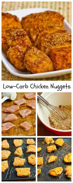 Love these #DeliciouslyHealthyLowCarb Chicken Nuggets with Almond Meal, and they're South Beach Diet friendly and Gluten-Free.  [from KalynsKitchen.com]