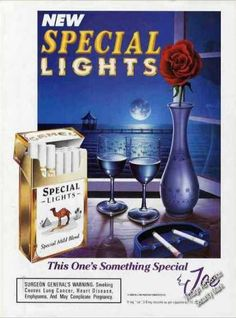 Camel Cigarettes Special Lights Ocean View Rose (1993)