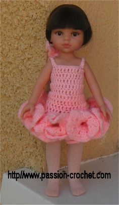 Dress crochet pattern (free, in French)