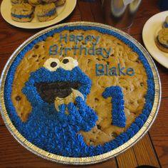 Cookie Monster cookie cake