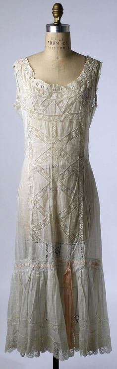 Chemise Date: 1910s Culture: American or European Medium: linen, cotton, silk by Olive Oyl