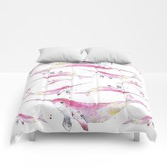 Unicorn Dolphin Comforters by Salome | Society6