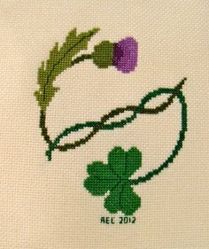 Thistle & Shamrock Cross Stitch Pattern. $6.00, via Etsy.