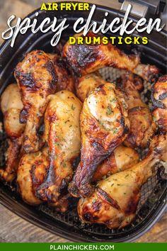 Air Fryer Recipes Vegetarian, Air Fryer Oven Recipes, Air Frier Recipes, Air Fryer Dinner Recipes, Spicy Recipes, Meat Recipes, Healthy Recipes, Snacks Recipes, Cookbook Recipes