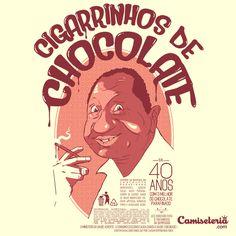 Camiseta 'Cigarrinhos de Chocolate'. http://cami.st/p/1685