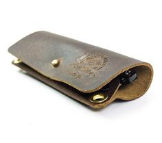 Leather eyeglass case handmade brown leather by LumberjackLeather