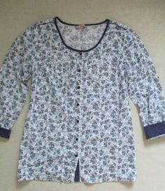 7309545513a6 Joe Browns Blue Floral Print Blouse Shirt size 18 #fashion #clothing #shoes  #