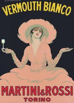 Marcello Dudovich - Martini & Rossi Vermouth - 1950 - W.B.