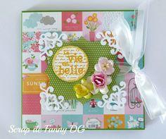 Mini album de vacaciones...  #gardenparty #Pebbles #MemoryBox #Spellbinders #minialbum