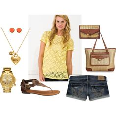I love anything yellow! its my fav color i would so wear the whole outfit!!