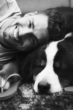 hot guy and dog? yes.