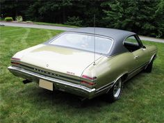 Rear 3/4 View 1968 Ashe Gold Beaumont (Canadian Pontiac Version of Chevelle)