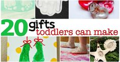 """I've pulled together a list of 20 Holiday Gifts Toddlers Can Make...like the little, itty-bitty babies just now getting into the whole """"toddler"""" thing."""