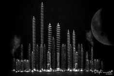 Industrialized City by Antonio Coelho / Celestial, City, Log Projects, Cities