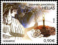 Νοεμβριος - Λαογραφια των μηνων, 23 Απριλιου 2014 November Calendar, Postage Stamps, Folk Art, Greece, Europe, Stamps, Greece Country, Popular Art