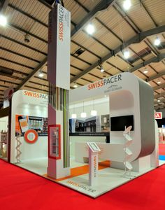 [Nice work! Love the attention to detail with the branded flooring -area] Swisspacer exhibition stand at FIT Show 2014