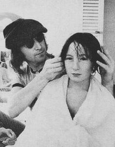 John Lennon and Julian Lennon/nice to see that there were actually some tender moments between John and Julian.  How very difficult to have such a talented famous father.