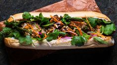 Everyone's Favorite Vietnamese #BahnMi Sandwich Gets A Fresh Twist With Grilled Chicken and Fragrant Herbs. -TastingTable