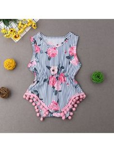 Toddler Baby Girls One-Shoulder Floral Rompers for 1-5 Years Little Princess Ruffles Sleeveless Jumpsuit Set