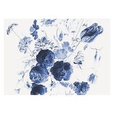 KEK Amsterdam Behang Royal Blue Flowers l - 8-baans